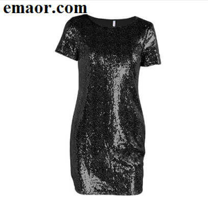 T-shirt Dress Sequins Gold Summer Women Sexy Mini Dress Evening Party Elegant Club Dresses
