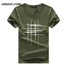 Men's T-Shirts Summer Short Sleeve Simple Creative Design Line Cross Print Breathable Mens Cotton T-shirts