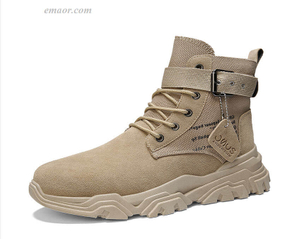 Safety Work Boots Mens Soldier Ankle Boot With Buckle Men's Military Boot Work Boots Sale Indestructible Work Shoes