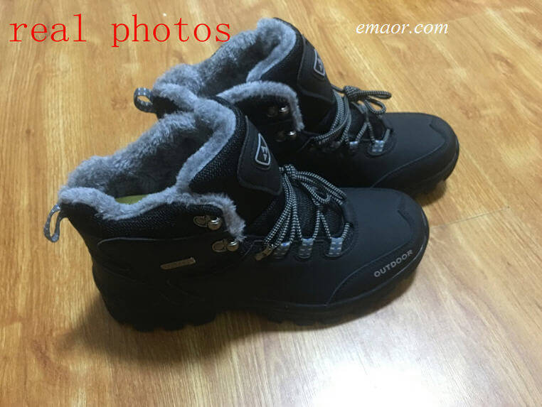 Fashion Men's Shoes Warm Winter Ankle Boots Shoes Fur Snow Boots For Men Shoes Hot Men's Sneakers