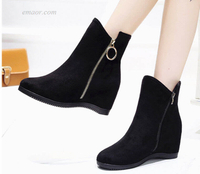Female Snake Boots Ladies Navy Leather Ankle Boots Western Side Zipper Women's Bootsladies Thigh Boots