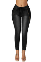 Best Elastic Waistband Denim Women's Jeans Pants on Sale