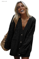 Amazon Women's Outerwear Front Button Down Knit Cardigan Coat Armani Jeans Ladies Apparel Outerwear on Sale