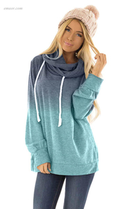 Best Drawstring Pullover Sweatshirt Long Sleeve Tops Outerwear Vest for Women on Sale