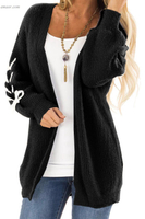 Outerwear Warm Outerwear on Sale Cardigan with Stitch Detail Outerwear