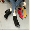 Fashion Ankle Boots Square Heel Boots Women Winter Chelsea Boots Walmart Womens Boots Best Snow Boots for Women