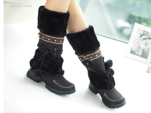 Best Ladies Walking Boots Ladies Flat Ankle Boots Winter Warm Thickened Fur Over Knee High Heel Boots Women's Shoes New Look Knee High Boots