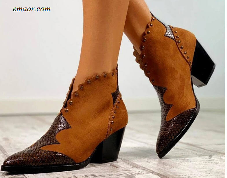 Female Country Boots Cheap Female Boots High Heel Booties Snake Print Western Cowgirl Boot Female Walking Boots