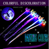 Fiber Optic Hair Hair Braid Flash Fiber Hairpin Clip Luminous Butterfly Headband Luminescent Led Hair Lights