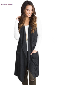 Fashion Clothing Wholesale Sweaters&Cardigans Stylish Sleeveless Cardigan on Sale