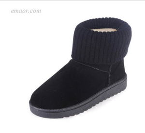 Fashion Snow Boots Warm Snow Boots Fashion Square Flat Heels Ankle Boots Keen Winter Boots