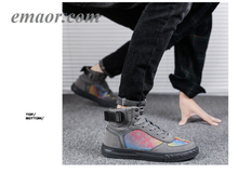 Shoes Reflected Change Color Long Tide Shoe Gao Bang Street Dance Men's Leisure Sports Breathable Shoes
