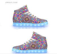 Led Light Shoes 8-bit Trip-APP Controlled High Top LED Shoes Light Up Shoes