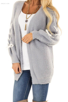 Outerwear Hot Women's High Visibility Outerwear Cardigan with Stitch Detail Ladies Fall Outerwear