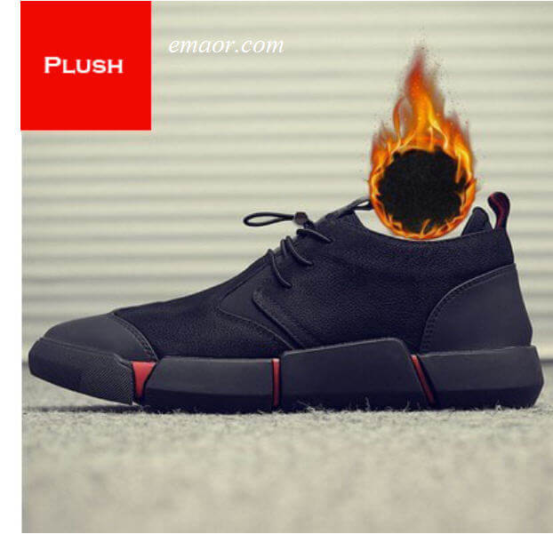 Fashion Men's Shoes Sneaker Merkmak Black Warm Sneakers Men's Shoes Sneaker Casual Shoes for Men