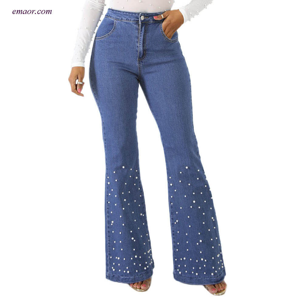 Best Women's Jeans Pearly Denim Fashion Nova Skinny Girl Jeans
