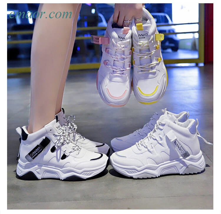 Sneakers Women's Shoes Autumn/winter High-top Reflective Best Sneakers on Sale