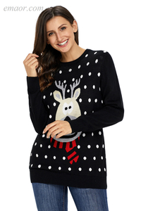Sweaters Best Lightweight Christmas Reindeer Sweaters for Women on Sale Sweaters