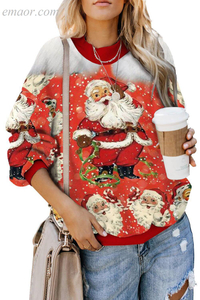 Outerwear Amazon Original Wholesale Best Merry Christmas Sweatshirt Outerwear