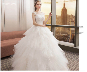 Best Wedding Dresses Wedding O-neck Appliqué Bridal Dress Boho Long Lace Dresses To Wear To Wedding