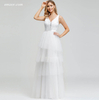 Dress for Wedding Elegant Layered Wedding Dresses Double V-Neck Sequined Embroidery Lace Wedding Dress