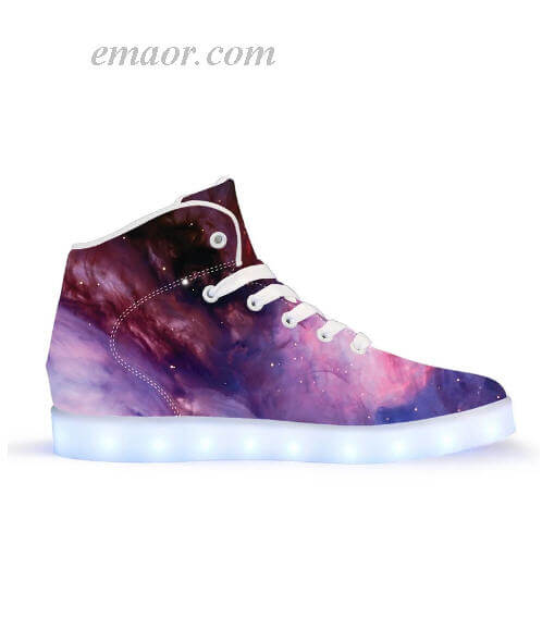 Best Light Up Shoes Nebule-APP Controlled High Top LED Shoes Original Light Up Gym Shoes