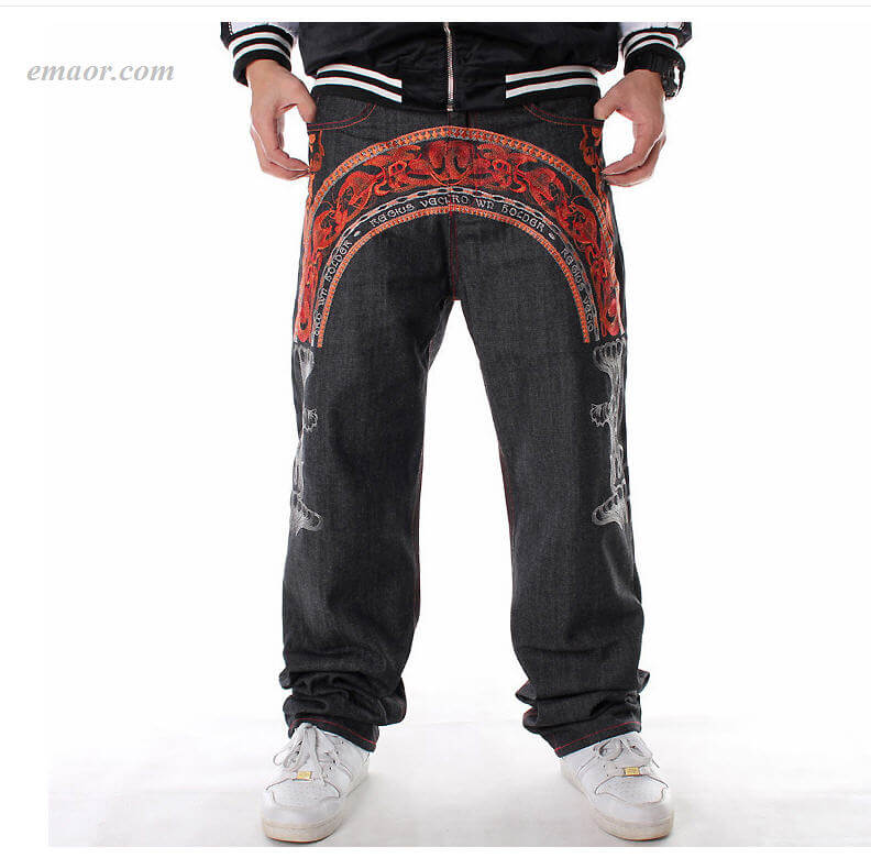 Best Straight HIPHOP Jeans in Primary Colors Men's Style Relaxed Fit Jeans