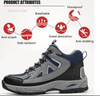 Safe Step Work Shoes Anti-smashing Anti-pirecing Lightweight Breathable Mesh Steel Toe Men Safety Shoes Safety Boat Shoes