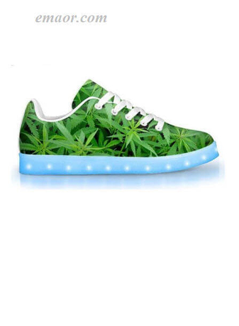 Color Changing Light Up Shoes Homegrown-APP Controlled Low Top LED Shoes Led Running Shoes