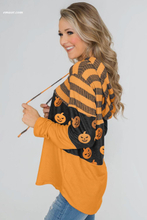 Kohls Women Stripes And Halloween Pumpkin Print Hoodie Footjoy Lands End Women's Outerwear