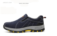 Safety Boat Shoes Fashion Summer Breathable Slip On Casual Boots Men's Labor Insurance Puncture Proof Shoe Ventilated Safety Shoes