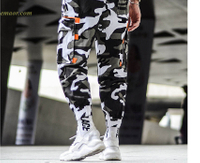 Cargo Camouflage Pants Hip Hop Black Pants Mens Cargo Harem Pant on Sale