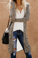 Wholesale Print Long Camo Print Long Cardigan on sale